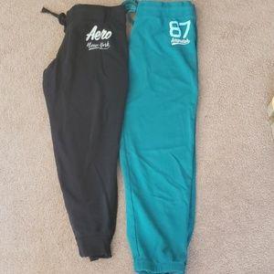 2 pairs Aeropostal joggers